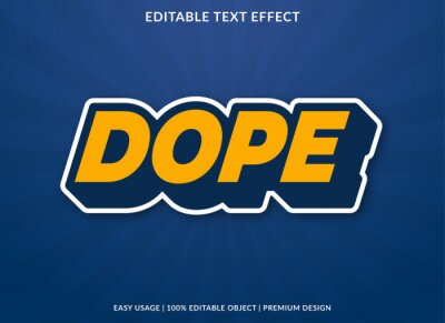 Poster dope text effect template with bold style use for business logo and brand
