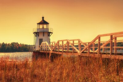 Poster Doubling Point Leuchtturm in Neu-England