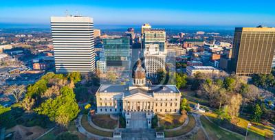 Poster Downtown Columbia South Carolina Skyline SC Aerial Panorama
