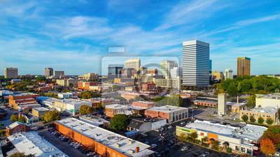 Poster Downtown Columbia, South Carolina, USA Skyline Panorama