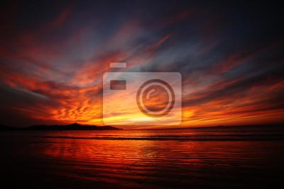 Poster Dramatische Sonnenuntergang