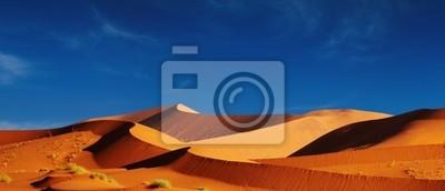 Poster Dunes of Namib-Wüste. Sossusvlei, Namibia.