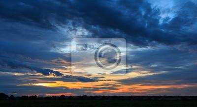 Poster Dunkler Sonnenaufgang