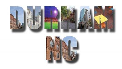 Durham NC banner on white