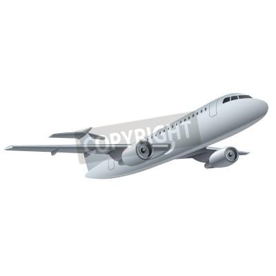 Poster Düsenflugzeug