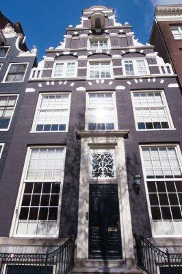 Dutch Architektur des 17. Jahrhunderts in Amsterdam, Niederlande.