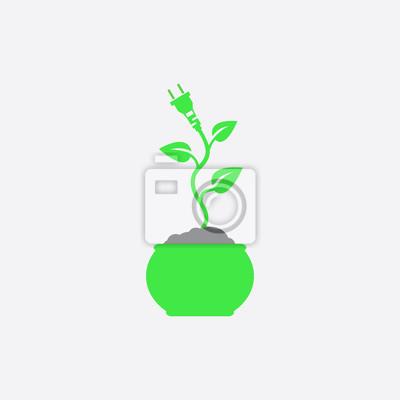 Eco energie-symbol wandposter • poster Generika, Kultivierung ...