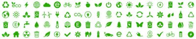 Poster Ecology icons set. Nature icon. Eco green icons. Vector