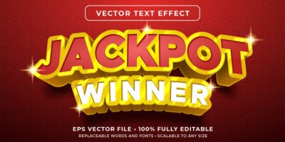 Poster Editable text effect - jackpot prize style