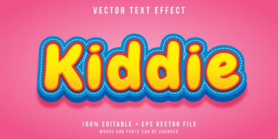Poster Editable text effect - kiddie style