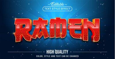 Poster Editable text style effect - Ramen text style theme.