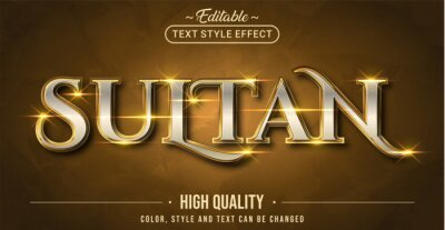 Poster Editable text style effect - Sultan text style theme.