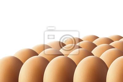 Eier auf weißem Hintergrund