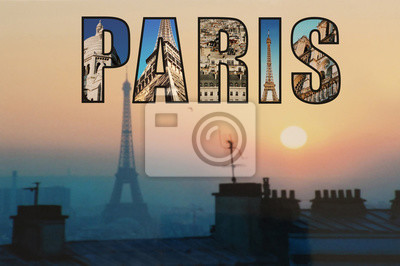 Eiffel Tower in Paris sunset