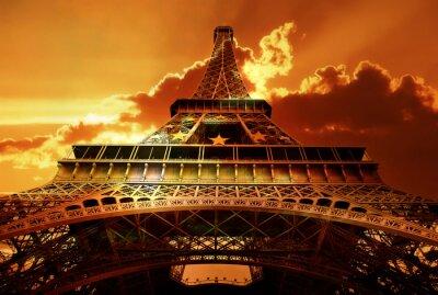 Eiffel tower on sunset