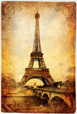 Eiffelturm - retro Bild