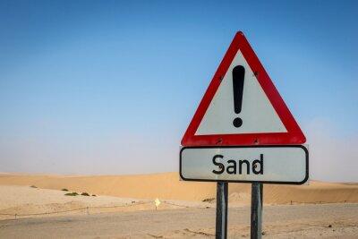 Ein einzigartiges Sandzeichen in der Namibia-Wüste, Afrika
