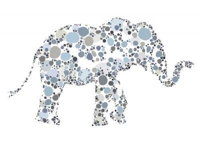 Poster Eine kreative Illustration eines Elefanten