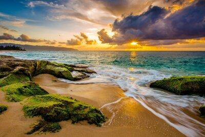 Poster Eine schöne hawaiianische Sonnenuntergang