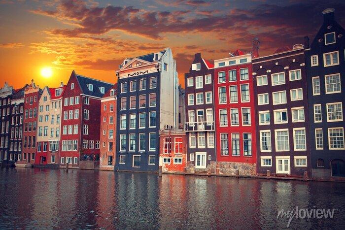 Poster Einer der berühmtesten europäischen Stadt Amsterdam. Die Hauptstadt o