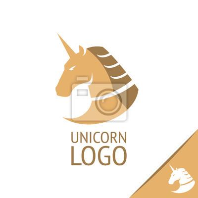 Einhorn Logo Pferde Logo Vektor Logo Vorlage Wandposter Poster Schnelles Pferd Schone Geil Myloview De