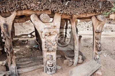 Einzelheiten Toguna in einem Dogon Dorf, Mali, Afrika.