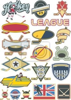 Eishockey Elemente und Etiketten