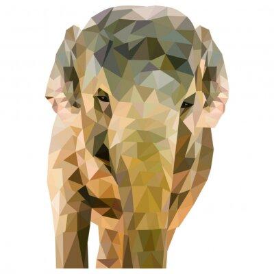 Poster Elefant aus Dreiecken