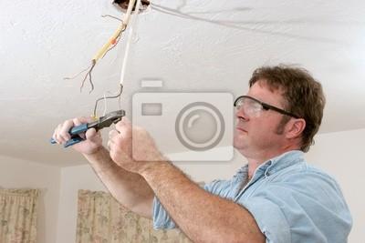 Elektriker straightents draht wandposter • poster Drahtmutter ...