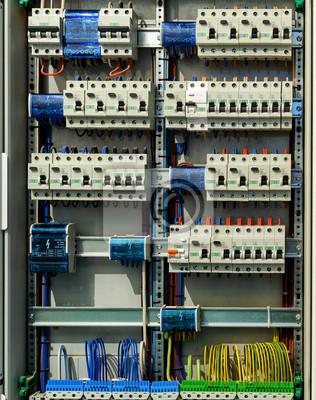 Elektrischer schaltkasten wandposter • poster Automatisierung ...