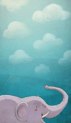 Poster Elenfante con textura