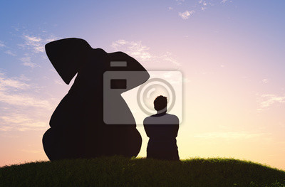 Elephant and man