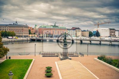 Embankment im zentralen Teil von Stockholm, Schweden.