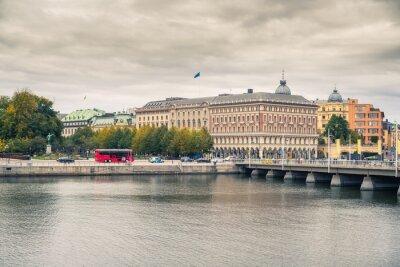 Embankment in the central part of Stockholm, Sweden.