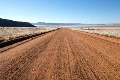 Endless dust road