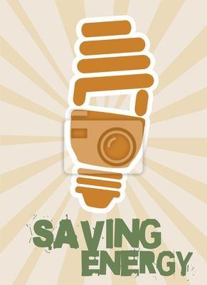 Poster Energie sparen
