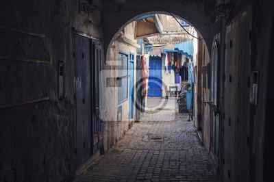Enge Straßen und Wege von Essaouira, Marokko