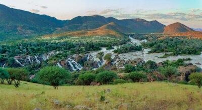 Poster Epupa Falls on the Kunene River in Namibia