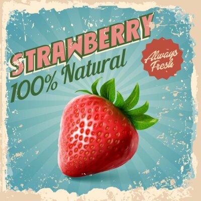 Poster Erdbeerweinlese
