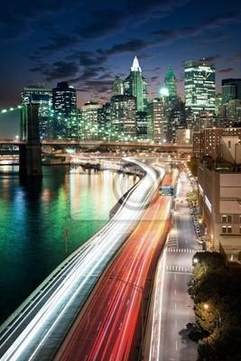 Poster Erstaunlich New York Stadtbild - nach Sonnenuntergang