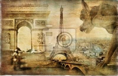 erstaunlich, Paris - Künstlerischer Retro Collage