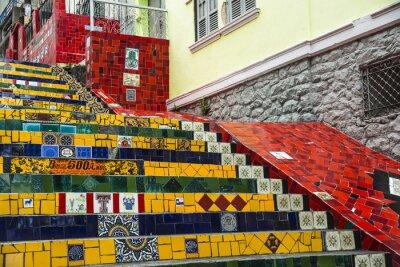 Poster Escadaria Selaron, Rio de Janeiro, Brasilien