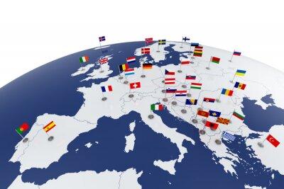 Poster Europa-Karte