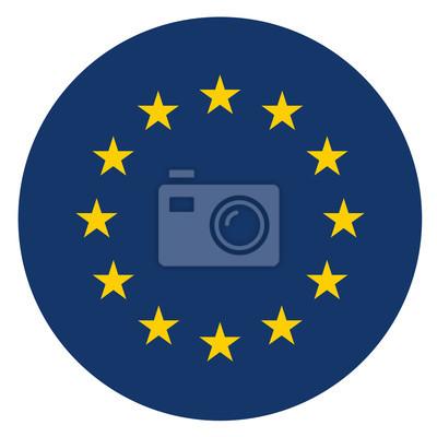 Poster Europa-Kreis-Symbol