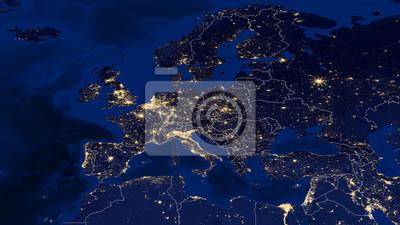 Poster Europa - Nacht & Grenzen
