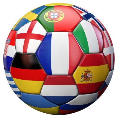 Poster Europäische Fußball-