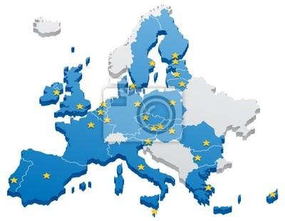 Europäische Union Karte