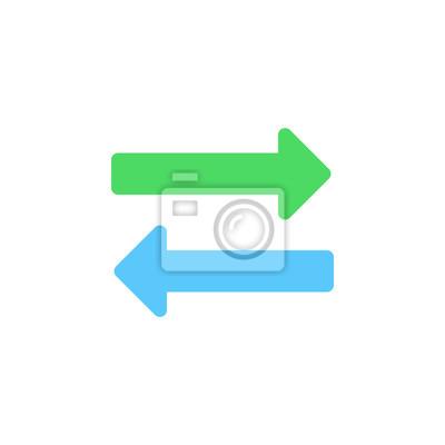 Exchange icon vektor, gegenüberliegende pfeile solide logo ...