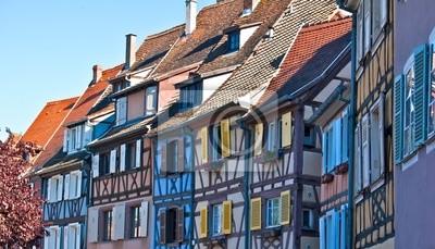 Fachwerkhäuser in Colmar im Elsass