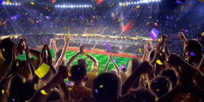 Poster Fans auf Stadion Spiel Panoramablick